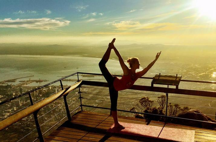 Align body and spirit with yoga on Table Mountain: In Cape Town, South Africa (1)