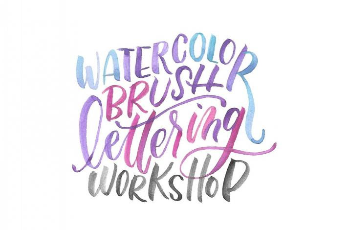 Beginner Watercolor Brush Lettering Workshop and Supply Kit: In New York, New York (1)