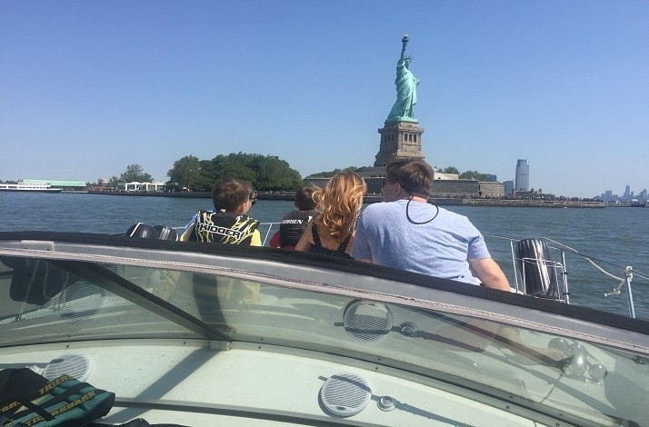Take to the water on a private yacht with friends around Manhattan: In New York, New York (1)