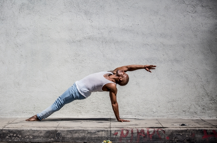 Downtown LA YogaArt Walk with Top Yoga Instructor and Broadway Veteran Cornelius Jones Jr.: In Los Angeles, California (1)