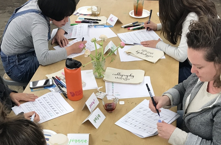 Private Intro to Brush Calligraphy Workshop: In San Francisco, California (1)