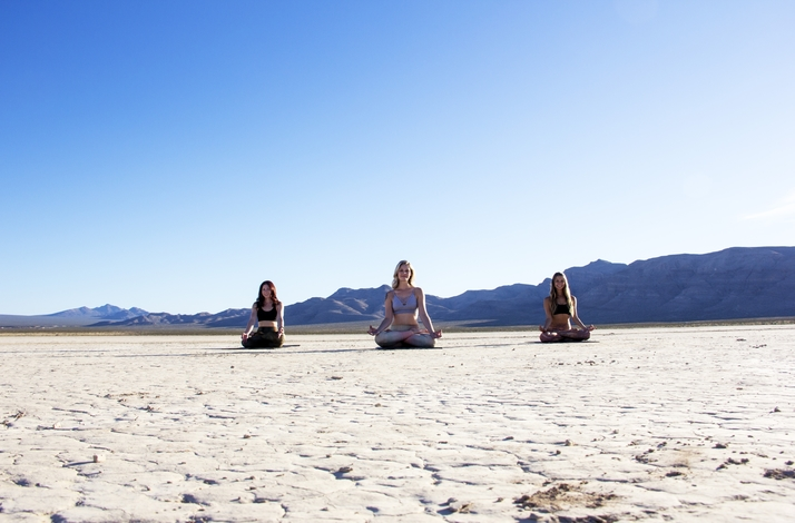 Sunrise and Solitude Yoga in the Dry Lake Beds: In Henderson, Nevada (1)
