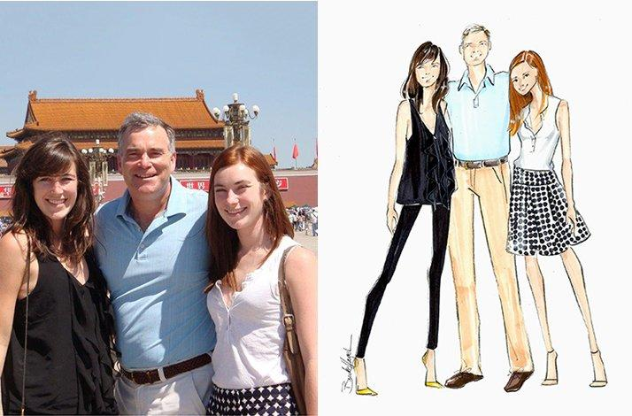 Portrait of Your Family by a Celebrated Fashion Illustrator (1)