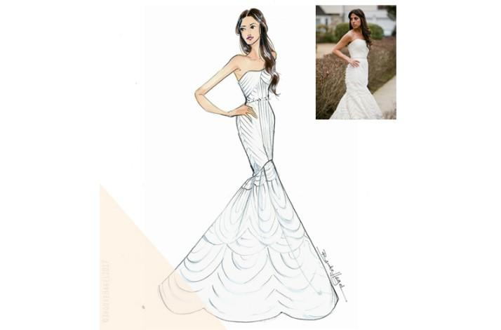Personalized Bridal Illustration by a Celebrated Fashion Illustrator (1)