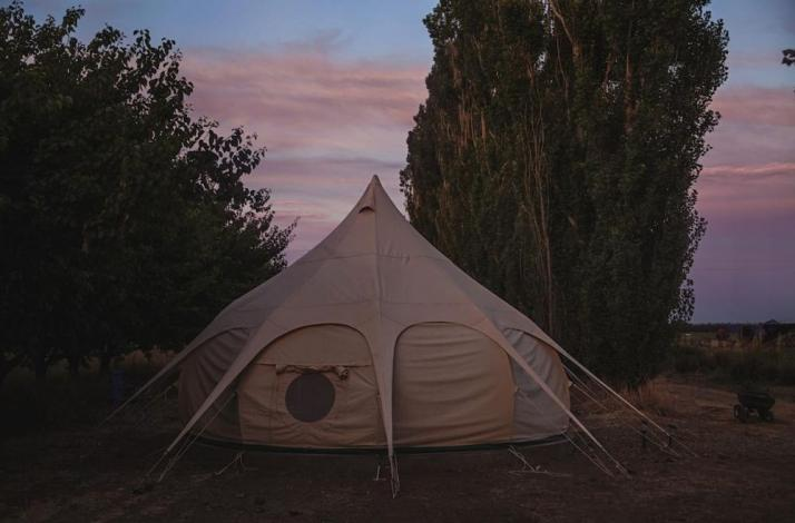 Glamping at The Nest: A Weekend of Nature, Quiet Beauty, and Delicious Meals: In Dixon, California