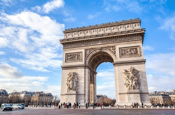 See panoramic views of Paris from the top of the Arc de Triomphe: In Paris, France (1)