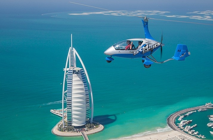 Soar over Dubai's iconic sights in a gyrocopter: In Dubai, United Arab Emirates (1)
