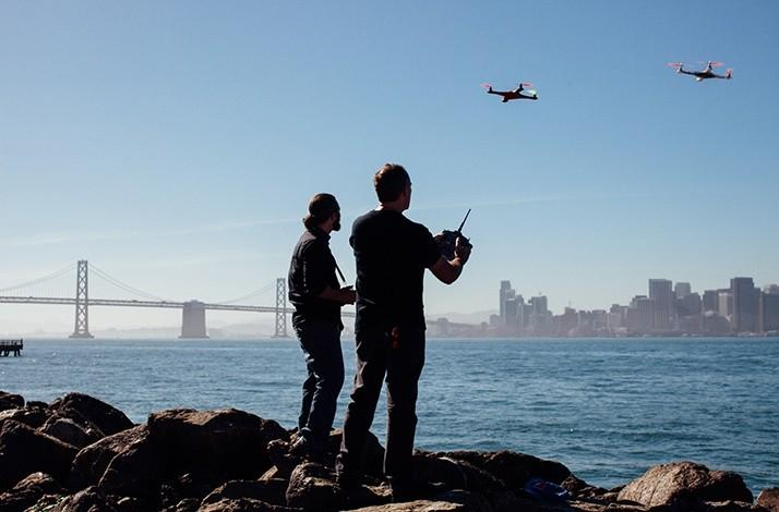 Drone-Flying Lesson Taught by a Duo of Aerial Robotic Experts: In San Francisco (1)