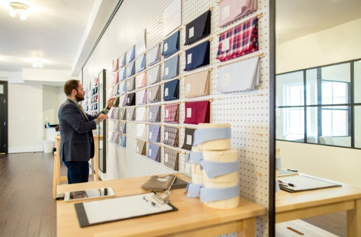 Get a private custom men's dress shirt fitting at Blank Label: In Boston, Massachusetts (1)