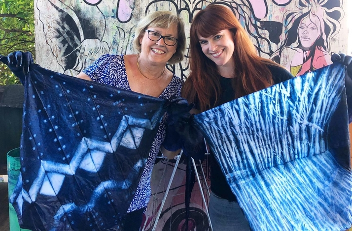 Intro to Indigo and Traditional Japanese Shibori Dyeing from a Local Textile Artist: In Oakland, California (1)