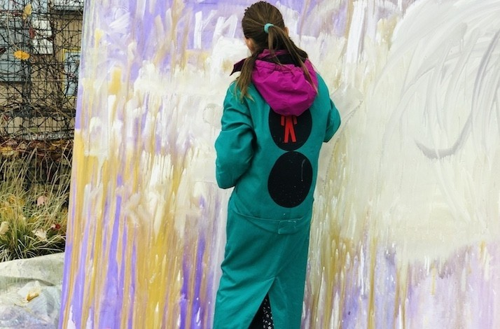 Bring the family to an action painting class with Lu Jindrák Skřivánková: In Prague, Czech Republic (1)