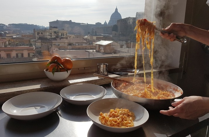 Savour a three-course dinner and wine in a private penthouse: In Roma, Italy (1)