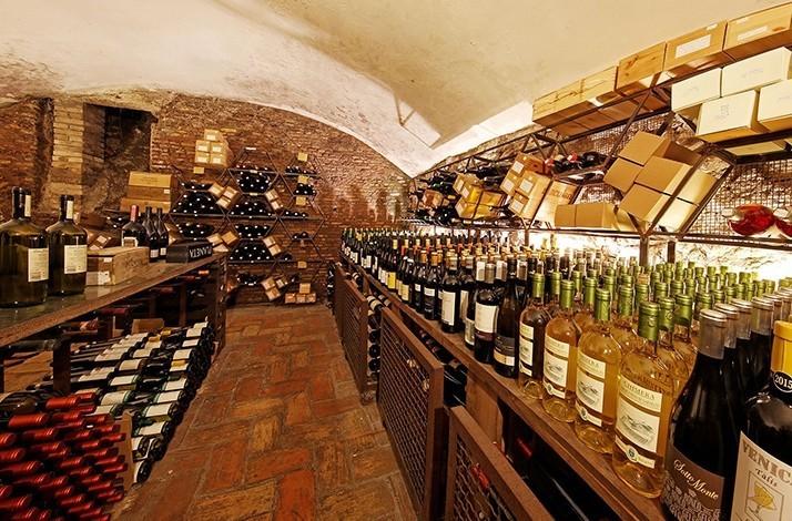 Taste red wines with light bites in the Enoteca Ferrara cellar: In Roma, Italy (1)