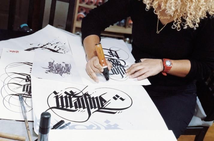 Learn 'calligraffiti' with top Boston street artist Sneha Shrestha: In Somerville, Massachusetts (1)