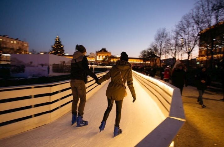 Skate with your loved one in Zagreb's Ice Park at King Tomislav Square: In Zagreb, Croatia (1)