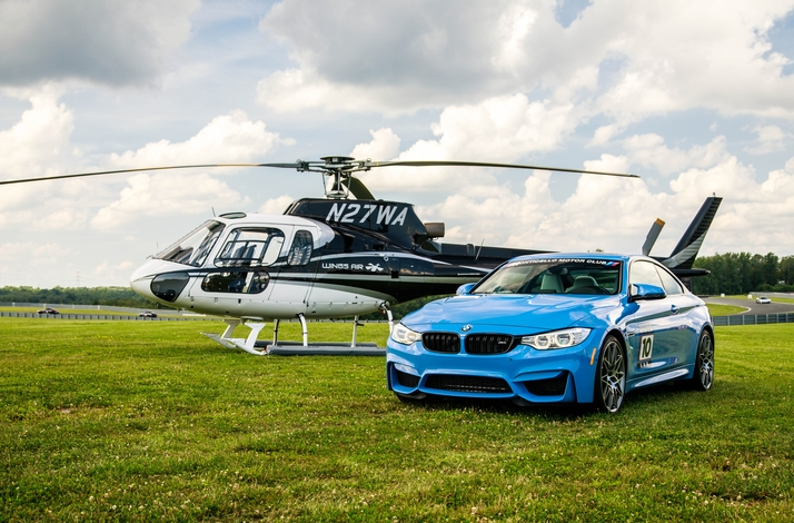 High-Performance Driving Experience for Two with Private Helicopter Charter : In New York, New York (1)