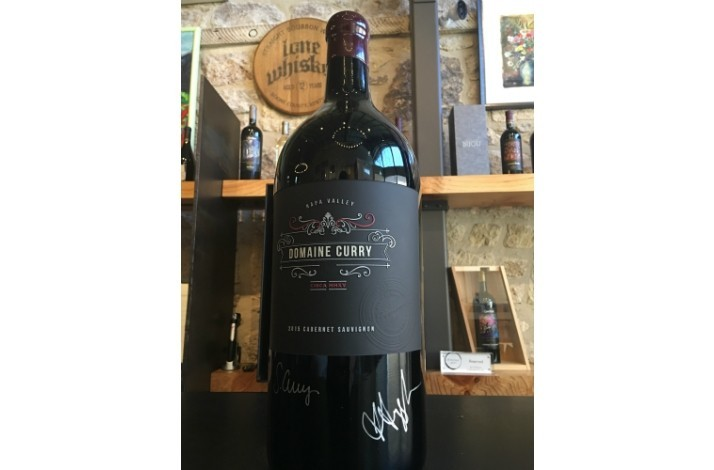 94-Point Cabernet Sauvignon: Jeroboam of 2015 Domaine Curry Signed by Ayesha and Sydel Curry (1)