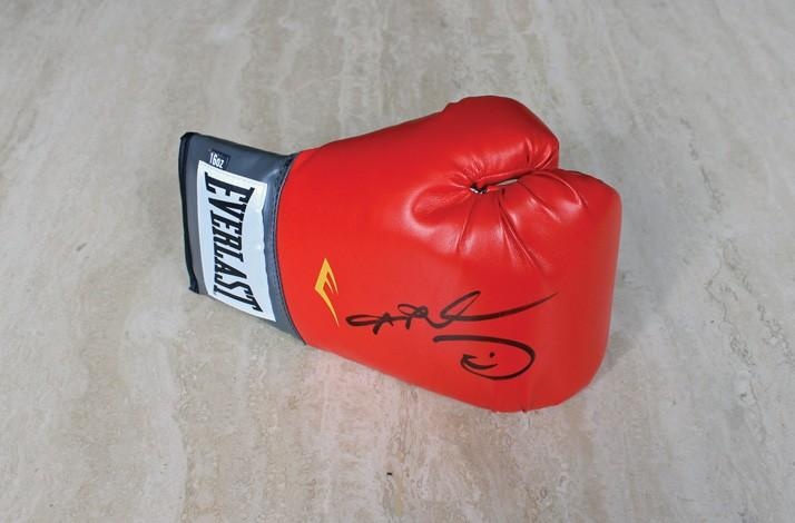 Sugar Ray Leonard Signed Boxing Glove (1)