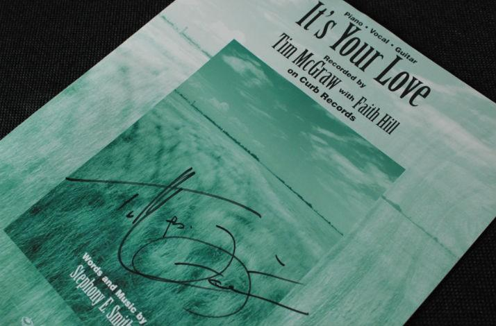 'It's Your Love' Sheet Music Autographed by Faith Hill and Tim McGraw (1)