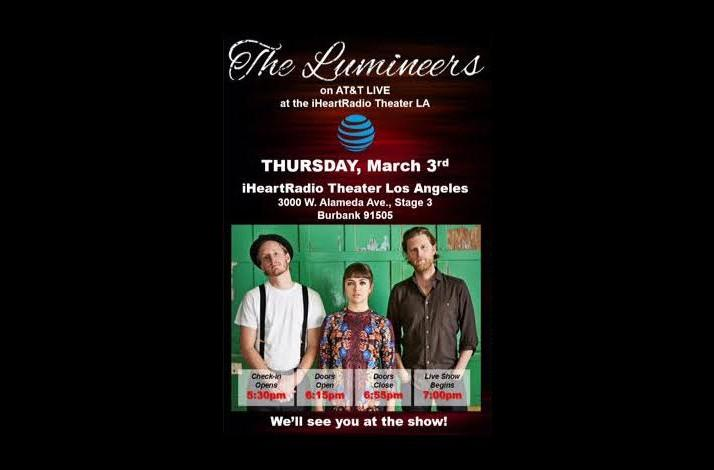 Meet The Lumineers And Two Tickets To A Private Industry Only Show
