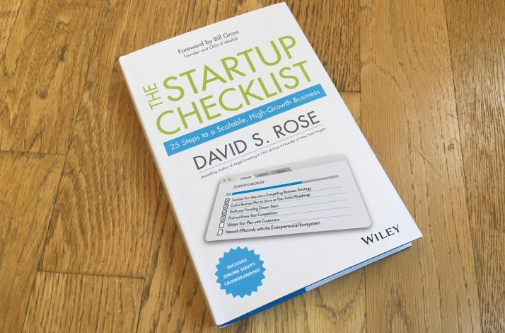 Hand-Signed Copy of the Startup Checklist: In New York, New York (1)