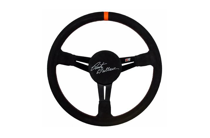 NASCAR Steering Wheel Autographed & Personalized by Rusty Wallace (1)