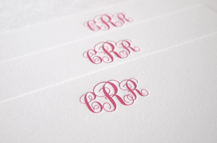 Classic Monogram Letterpress Stationery