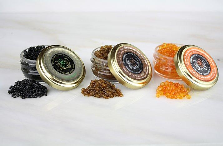 Caviar Trio with Accoutrements from the Caviar Queen