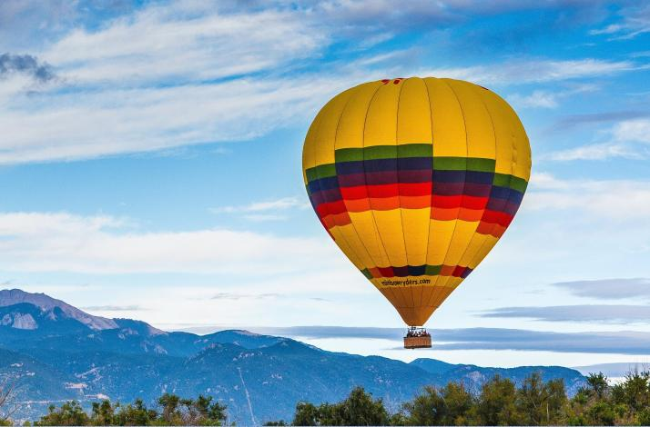 Hot Air Ballon Rides Colorado Springs Sunrise: In Colorado Springs, Colorado (1)