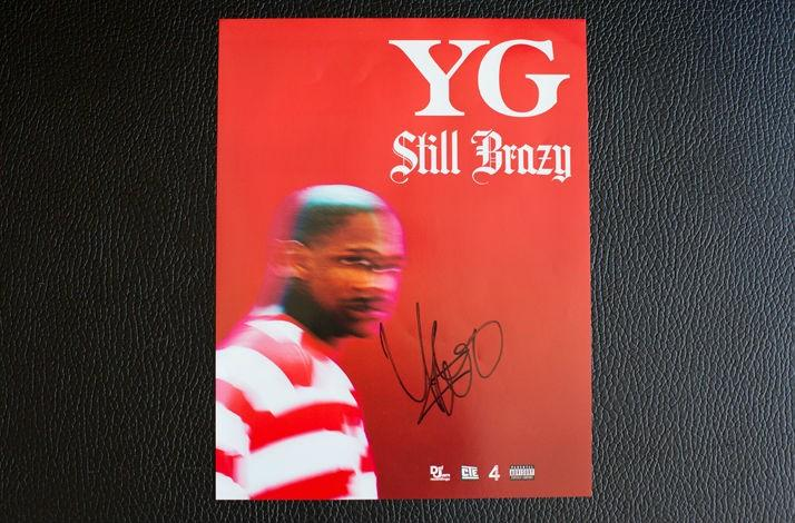 "Autographed Photo of YG's New Album ""Still Brazy"""
