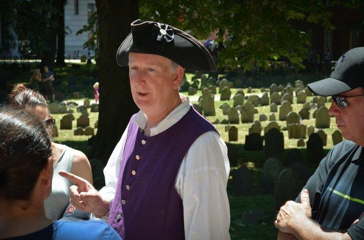 Boston Freedom Trail Walking Tour  with a Costumed Guide: In Boston, Massachusetts