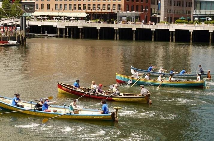 Group Rowing Outing on Boston Harbor: In Boston, Massachusetts (1)