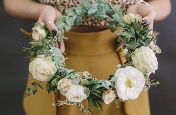 Flower Crown Class with Lucy's Flowers: In Brooklyn, New York
