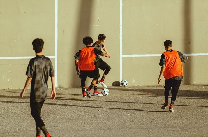 Group or Team Training at the Estadio De Dogtown : In Los Angeles, California
