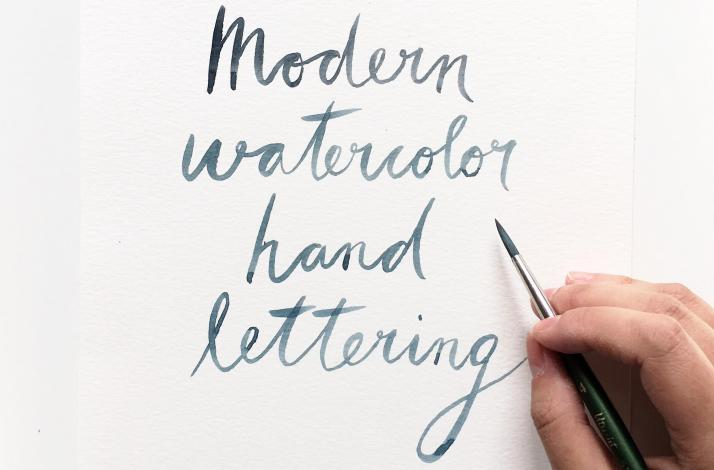 Modern Watercolor Handlettering with a Professional Artist: In Chicago, Illinois (1)