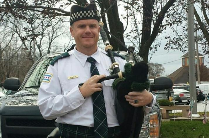 Birthday Bagpipes: In Merrionette Park, Illinois (1)