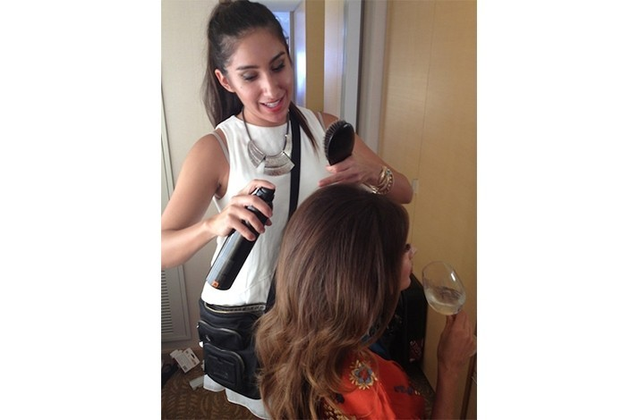 New Look from a Top Hairstylist to Hollywood's A-List: In West Hollywood, California (1)