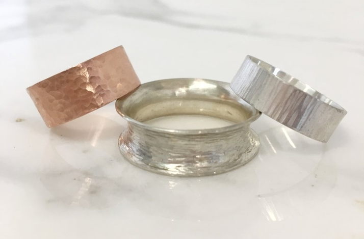 DIY Textured Sterling Silver Rings with Artisan Metalsmith: In Hoboken, New Jersey (1)
