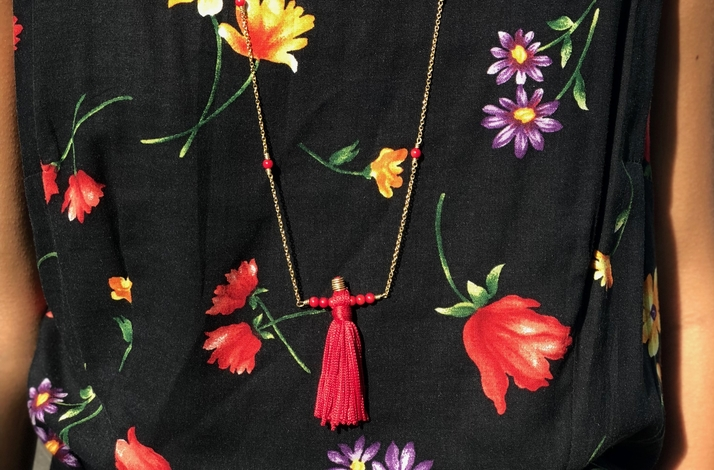 DIY Tassel and Beaded Necklace with Artisan Metalsmith: In Hoboken, New Jersey (1)
