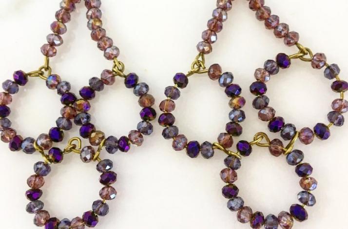 DIY Anthropologie Inspired Earrings with Artisan Metalsmith : In Hoboken, New Jersey (1)