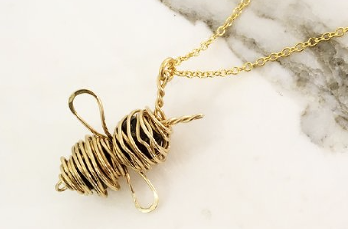Create a Bumble Bee Charm Necklace: Parent and Child Workshop with Artisan Metalsmith: In Hoboken, New Jersey (1)