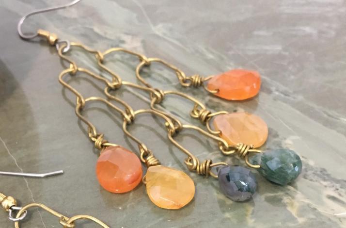 DIY Dangling Briolette Chandelier Earrings with Artisan Metalsmith: In Hoboken, New Jersey (1)
