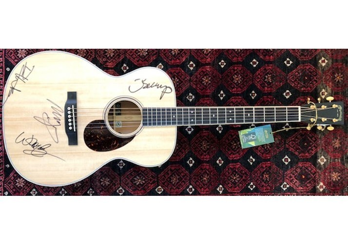 Signed Martin OME Guitar Autographed by the Farm Aid Board Artists (1)