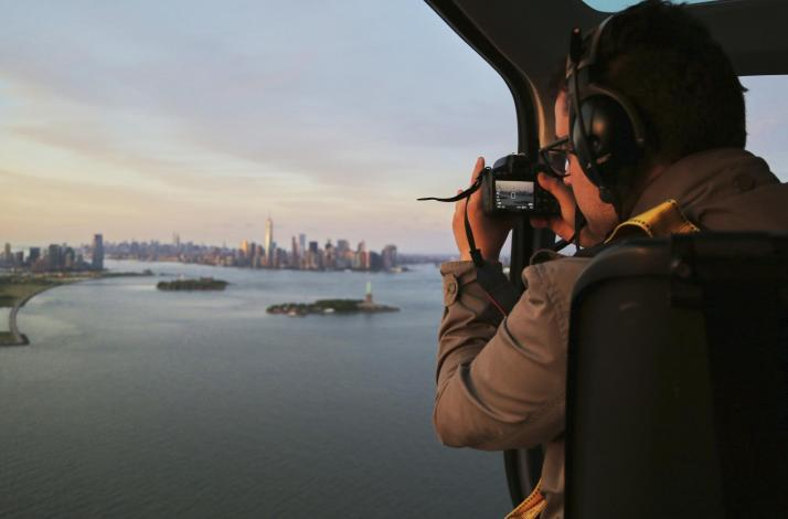 FlyNYON Aerial Photography Doors-Off Helicopter Flight over New York City: In Kearny, New Jersey