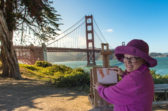 Monet for the Day Golden Gate Bridge — Open Air Acrylic Painting at Land's End (All Skill Levels ): In San Francisco, California