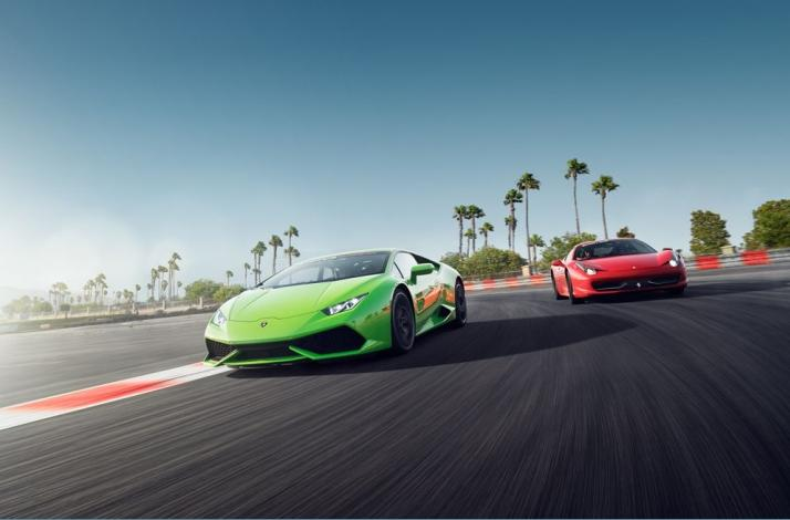 race gallardo supercar car superleggera exotics vs lambo at seat motormavens speedway track driving las ant motor vegas driver ferrari italia racing sports lamborghini scuderia