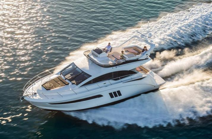 Brand New 55' Searay Flybridge  Boat for Four-Hour Charter in Miami Beach: In Miami Beach, Florida