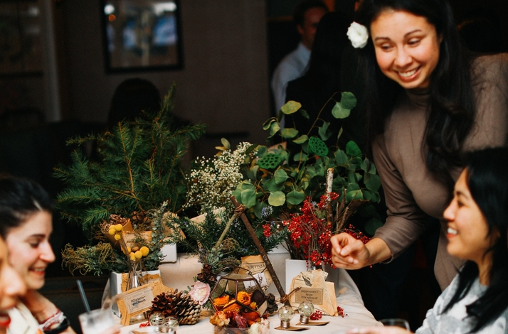 Learn the Language of Flowers in a Private Wreath Making Workshop over Flowery Drinks in SF: In San Francisco, California (1)