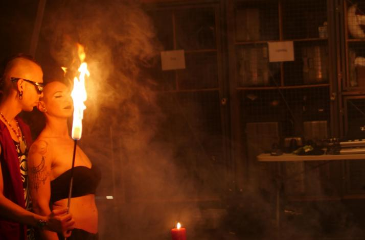 Couples Intro to Fire Eating and Aerial Workshop with Performance Demo: In Oakland, California