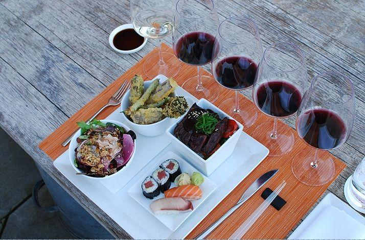 Blackbird Vineyards Library Wines Paired with a Morimoto Bento Box Lunch: In Napa, California